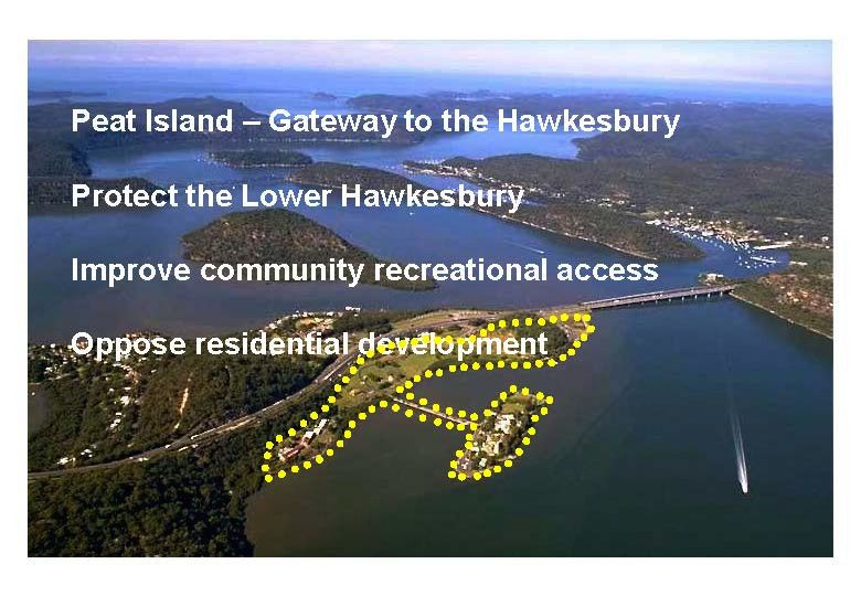 CEN Hawkesbury Access and Peat Island Proposal   2014 Page 1